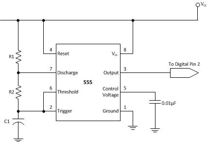 The 555 Timer configured as an oscillator